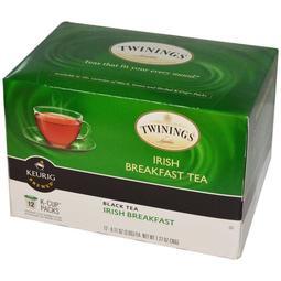Twinings 愛爾蘭早餐茶 散裝茶隨身包:12 個小包裝 - Keurig Brewed, Irish Breakfast Black Tea  070177872991