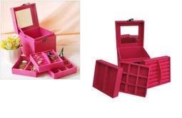 《A-0653》特價 *  化妝盒  歐式唯美公主款三層首飾盒  置物盒 首飾盒 珠寶箱