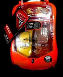 迪士尼 皮克斯 汽車總動員 汽車模型 競賽發射器組 全組13個配件 可攜帶外出手提盒裝 全新未拆封附吊牌標籤