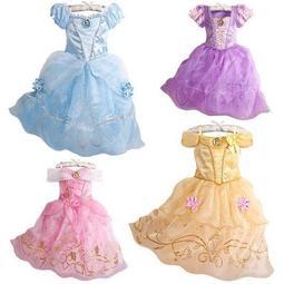 長髮公主樂佩灰姑娘貝兒睡美人紫色粉色禮服洋裝萬聖節表演服聖誕節蘇菲亞賣場有多款冰雪奇緣禮服