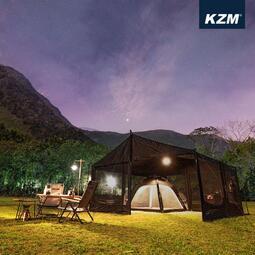 KAZMI KZM BLACK WISE 超級客廳帳(炊事帳) 露營 戶外活動 派對 野餐 【露戰隊】
