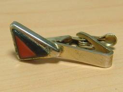 p80【晶玉石】罕見絕版1960年代古董金屬領帶夾領夾~窄版領帶專用~與SWANK同年代~一元起標