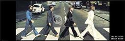 【英國進口明星海報】披頭四 THE BEATLES (abbey road) ~(30.5x91.5cm)#MD0041