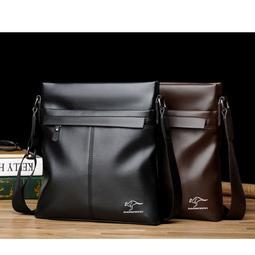 【現貨速配】巴諾袋鼠男士商務休閒軟料單肩斜挎包【SB012360】