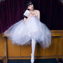 5Cgo ~快樂窩~44287946845 舞蹈紗裙芭蕾練功服舞裙舞蹈連體服TUTU 裙吊
