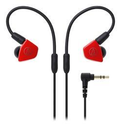 [My Ear 台中耳機專賣店] 鐵三角 audio technica LS50 可換線 雙單體 動圈 耳道式耳機 紅色
