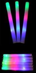 {桃園批發王}七彩發光海棉棒(泡棉棒) 演唱會 追星 五月天 蔡依林 海綿發光棒 海綿螢光棒 泡綿螢光棒 LED螢光棒