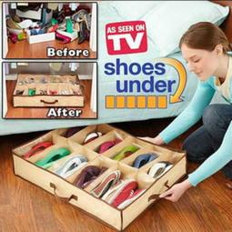 12格 鞋子收納袋 鞋收納袋 儲物袋 床底收納箱 鞋子收納盒 不織布收納袋 鞋架 拖鞋收納 收納 【RS938】