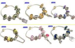 ~PINKGIRL 蘋果~潘朵拉風手鍊18 種手環第二波手鏈手繩手飾飾品diy 串珠 情人