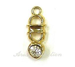 Bling Bling 吊飾 墬子 耳環 0.7x1.8cm 一份1顆 J41-9C33 串珠 首飾 飾品 金工 手工藝 半竇石DIY 材料 配件