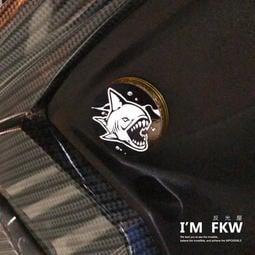 反光屋FKW 深海惡鯊 4.3公分圓形反光片 反光貼紙 VJR gogoroS3 VIVA EC05 ai1