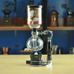亞美YAMA2人虹吸式手動咖啡機+酒精燈含蓋 贈原廠咖啡匙+濾器 餐廳、家用全適合