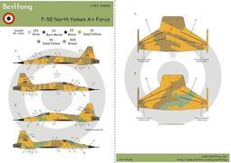1/144Bestfong水貼紙~美國F-5E戰鬥機,國軍大漠計畫~北葉門塗裝(含細部標誌)