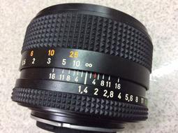[ 保固一年][高雄明豐] 95新 CONTAX Carl Zeiss 蔡司Planar T* 50mm F1.4