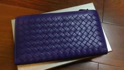 """""""寄賣商品""""義大利名牌COCCINELLE 皮革編織 高貴紫色 長夾 (有紙盒)"""