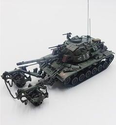 【軍模館】PMA - 1/72 以色列國防軍 以色列馬加奇6B IDF M60A1掃雷坦克模型 1982黎巴嫩(完成品)