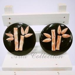 樣品出清 天然珊瑚竹子墬子 珊瑚墬子 尺寸5.9公分 C13-13PB 串珠 手工藝 半竇石 DIY 材料 配件