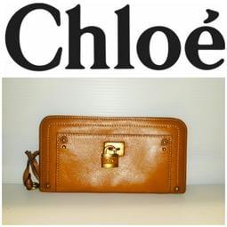 法國CHLOE 鎖頭包 皮夾 信用卡 ㄇ型長夾 發財包(大款)皮包 真品 有