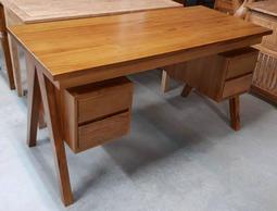【南台灣傢俱】工廠直營***5.1尺印尼柚木辦公桌書桌電腦桌***市價$29900元,超低特價$17500元