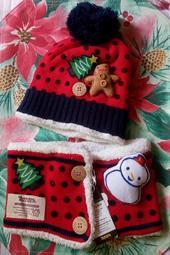 聖誕兒童保暖帽護頸組