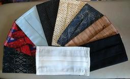 手工製現貨棉布+二重紗透氣口罩套 , MIT