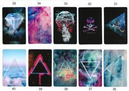 (31-60)超炫 原宿星空潮流  加厚PET水晶卡貼  悠遊卡貼
