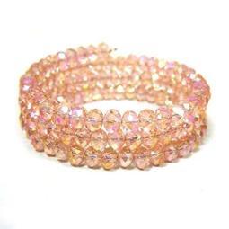五彩水晶珠彈性圈手環