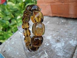 礦石園P2372*精選巴西天然酒黃水晶手排手鍊48.2g招財*清透晶亮質