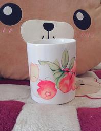 獨家創作手繪圖馬克杯【小紅莓】咖啡、茶、牛奶各式飲品皆適宜