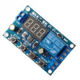 蓄電池充放電保護模組 有AT串口通訊開發板程式控制 可定時充放電 電壓顯示電瓶放電欠壓斷電保護及充電過壓保護