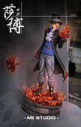 『胖虎館』代購 2020年 第三季 M3 海賊王 1/4 三兄弟 第一彈 革命軍 薩波 GK 雕像 完成品