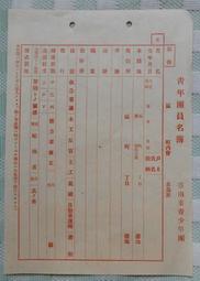<日治時期>青年團名簿//臺南市青少年團(1601)