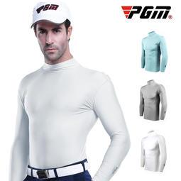 PGM golf高爾夫服裝 男 修身運動休閒冰絲長袖 打底衫yf202
