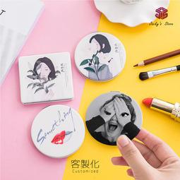 【傑克小舖】客製化 一個起訂 個性化 印刷 照片 圓鏡 方鏡 化妝鏡 隨身鏡 雙面鏡 婚禮小物