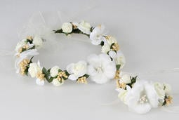 蓓兒丹蒂花飾年華新娘花環手腕花二件組新娘頭飾結婚配飾新娘頭花多色
