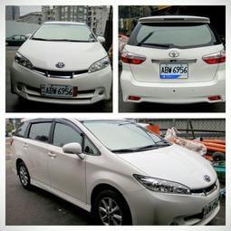 toyota wish 2012 女老師用車 白色 自售