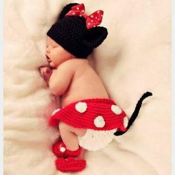 嬰兒拍照服 可愛米妮造型  全套