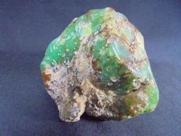 愛玉閣-綠玉髓原石 重123公克-001