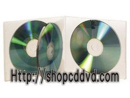 CD盒4片裝(透明)DVD CD 光碟整理收藏盒.台灣製造