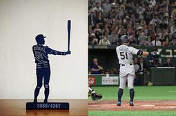 MLB美國大聯盟球星剪影擺飾-鈴木一朗 ICHIRO 51