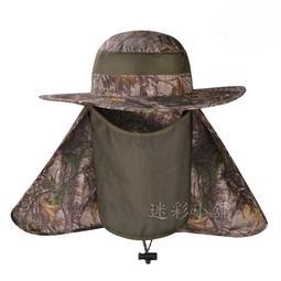 夏季輕薄透氣防曬 枯樹迷彩 仿生迷彩 遮陽帽 防曬帽 釣魚帽 偽裝帽
