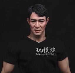 【現貨H-157】李連杰 功夫巨星 亞洲人李連杰頭雕 敢死隊 頭雕 模型