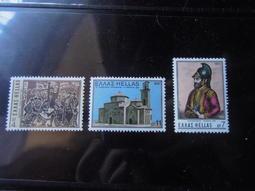 希臘1975「喀拉馬他修道院古建築等」3全