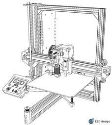 E2D i3Al  3D印表機 3D printer 台灣E2D設計 英國E3D原裝加熱頭