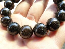 ~shalin-crystal~黑鈦能量手珠~62.47公克~招財聚氣~髮絲豐富~能量優質~低價起標!