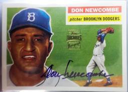 [CY館] 1956年 MLB 全聯盟 賽揚獎 Don Newcombe 簽名球員卡 AUTO