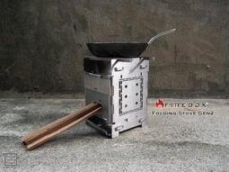 MFT 美國 Firebox Folding Stove Gen2 5吋 單爐版 不鏽鋼 折疊式 多功能柴火爐