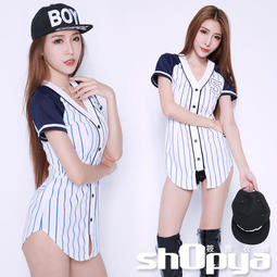 獨家連身棒球啦啦隊服 長版上衣 短袖洋裝 MIT設計制服款 筱雅衣舖【BT1086】