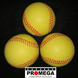 樂樂棒球 安全棒球 PU發泡.7公分 一顆價 黃色 噴線