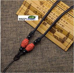 玉見真實-DIY飾品配件 米形珠红朱砂 可伸縮 玉墜掛繩 飾品掛繩 項鍊繩 吊墜掛繩 頸繩 中國結ECELHJ020